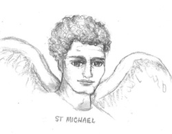 Saint Michel Archange - Dessin de Maureen Sweeney-Kyle